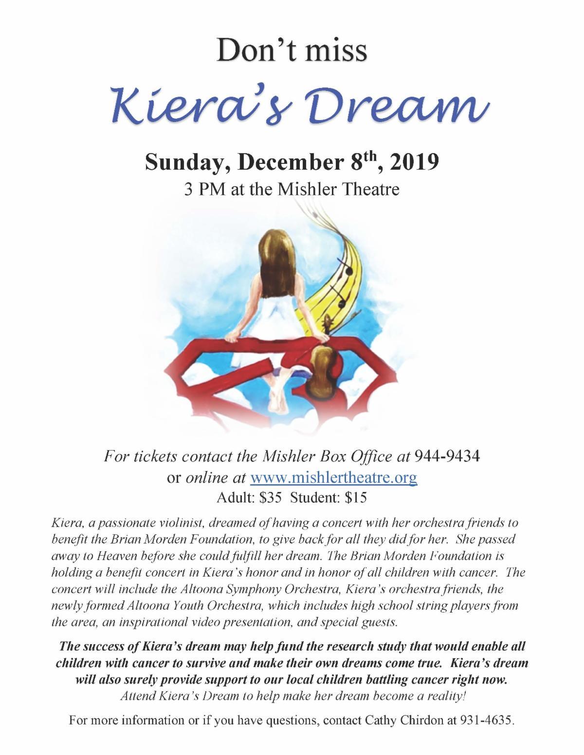 Kiera's Dream Concert