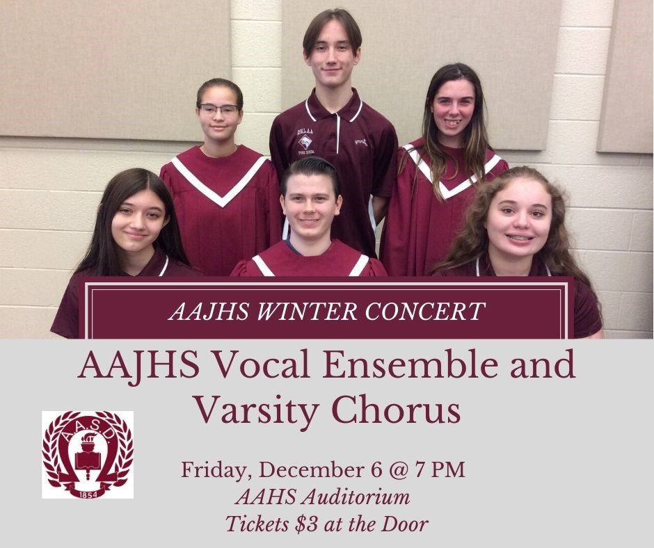 AAJHS Winter Concert December 6 @ 7 pm