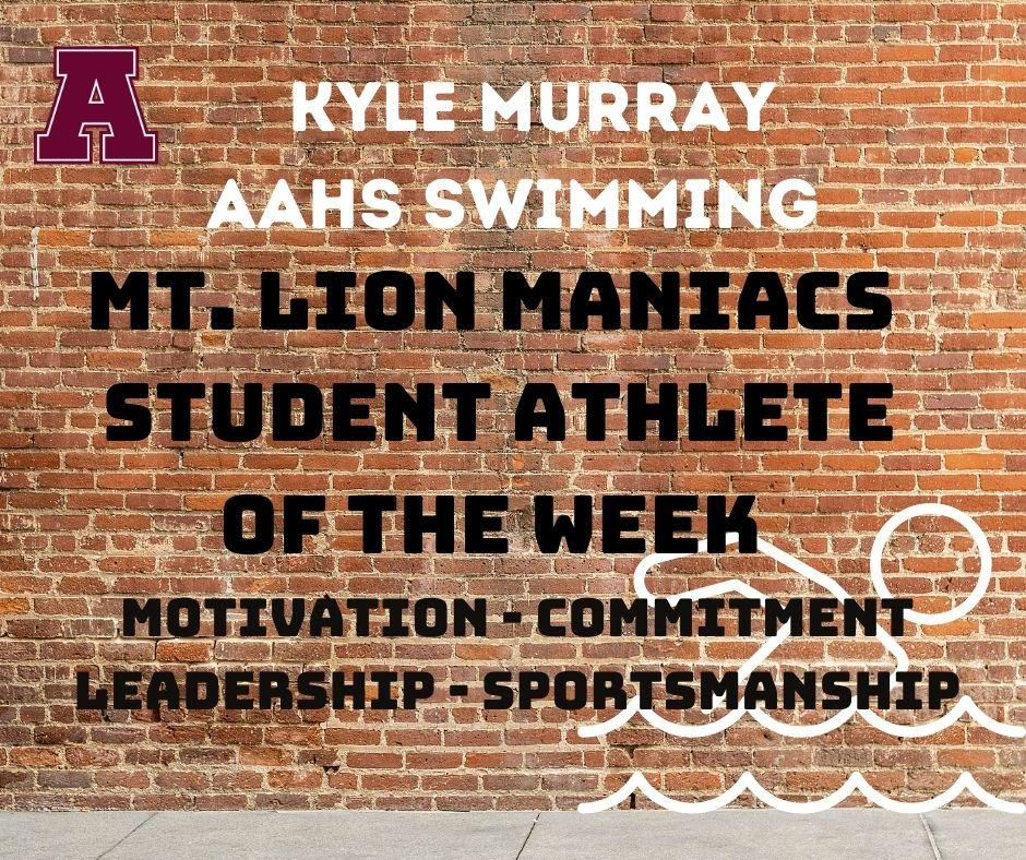 Athlete of the Week - Swimming Kyle Murray