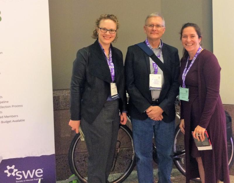 Sara Dunlap of MnDOT Dorian Grilley of BikeMN and Natalie Villwock-Witte