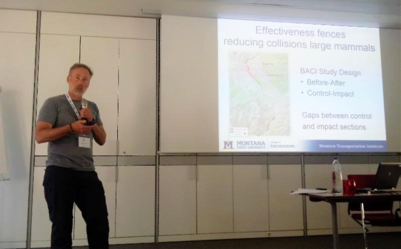 Marcel Huijser presents at IENE in September 2018