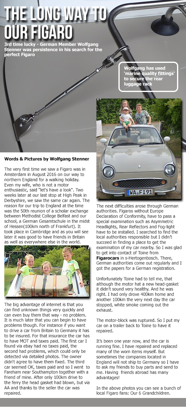 Your 100th Figaro Owners Club Newsletter is here!!!