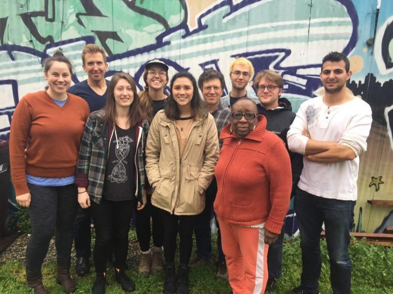 The project team included members from Berkeley Lab, UC Berkeley, and the West Oakland Environmental Indicators Project (WOEIP), pictured here, as well as contributors from Environmental Defense Fund, Bay Area Air Quality Management District, and the Port