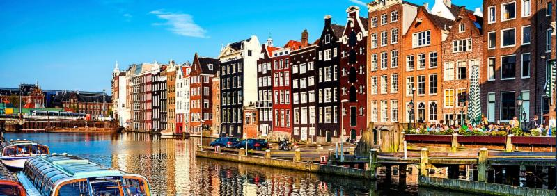 Scene of Amsterdam Canal