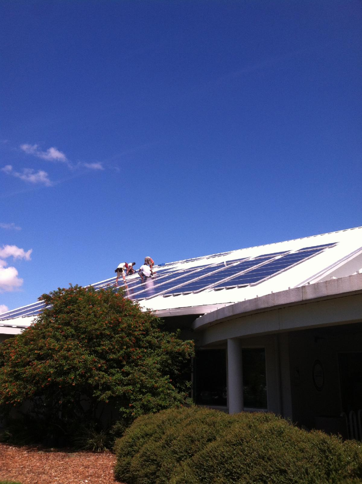 solar panel installation at extension office in twin lakes park