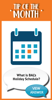What is BAL_s Holiday Schedule