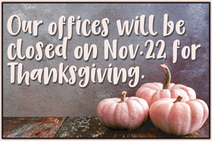 BAL Closed for Thanksgiving
