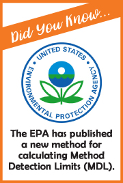 Did You Know...The EPA published a new method for calculating MDLs.