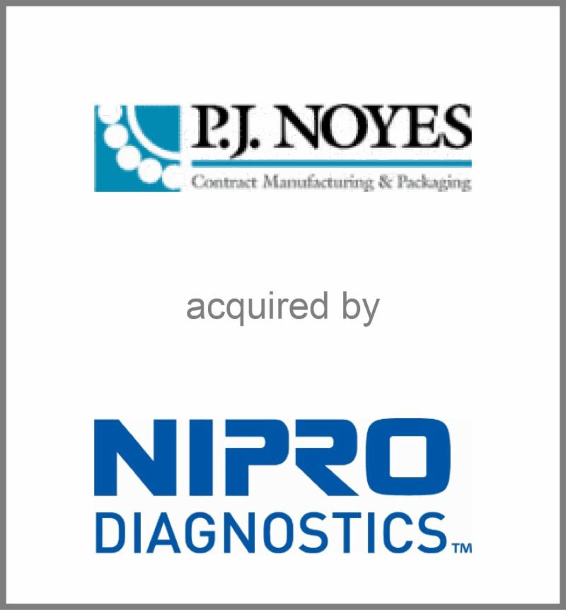 P.J. Noyes acquired by NIPRO Diagnostics