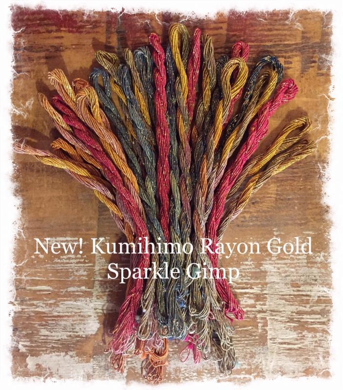 Kumihimo Rayon Gimp Gold Sparkle