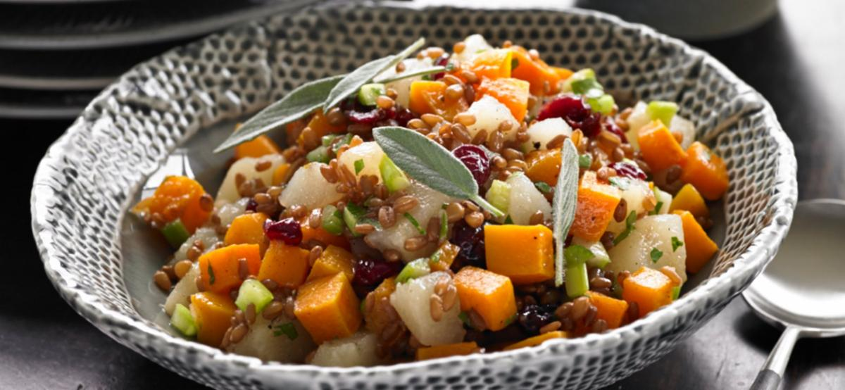 canned pear winter squash salad
