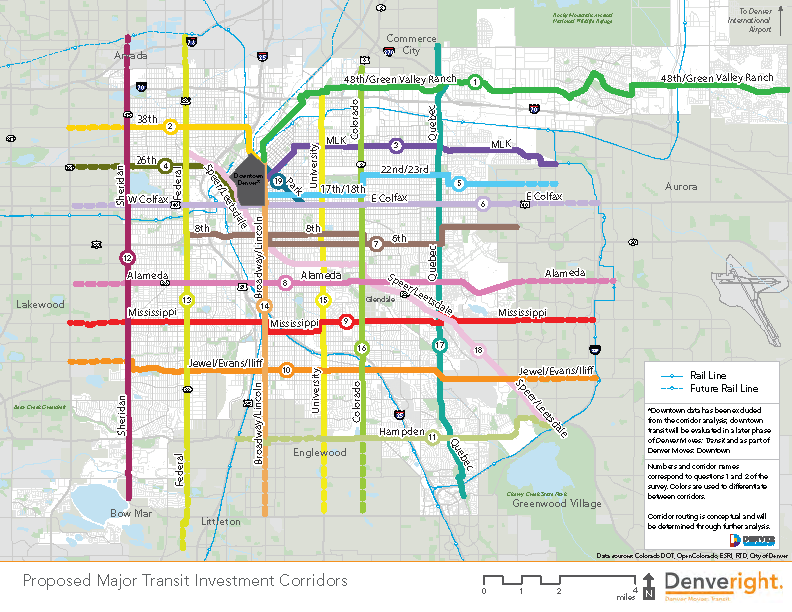 map of priority transit corridors