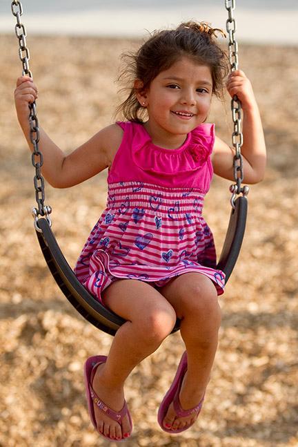 park girl swing
