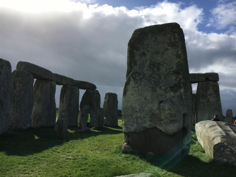 Inside Stonehenge sun glare