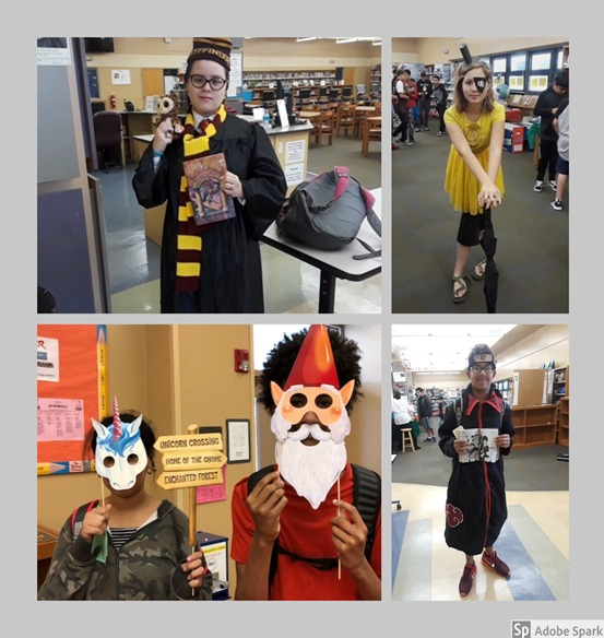 Jackson Middle Students Dress Up as Favorite Book Character