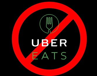 No Uber Eats delivers allowed