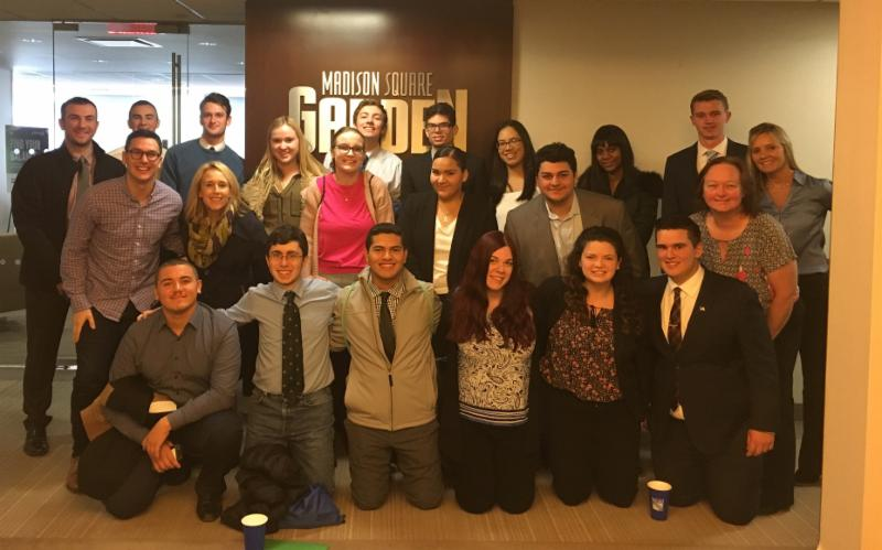 Members of the STAC community on a career-based trip to Madison Square Garden