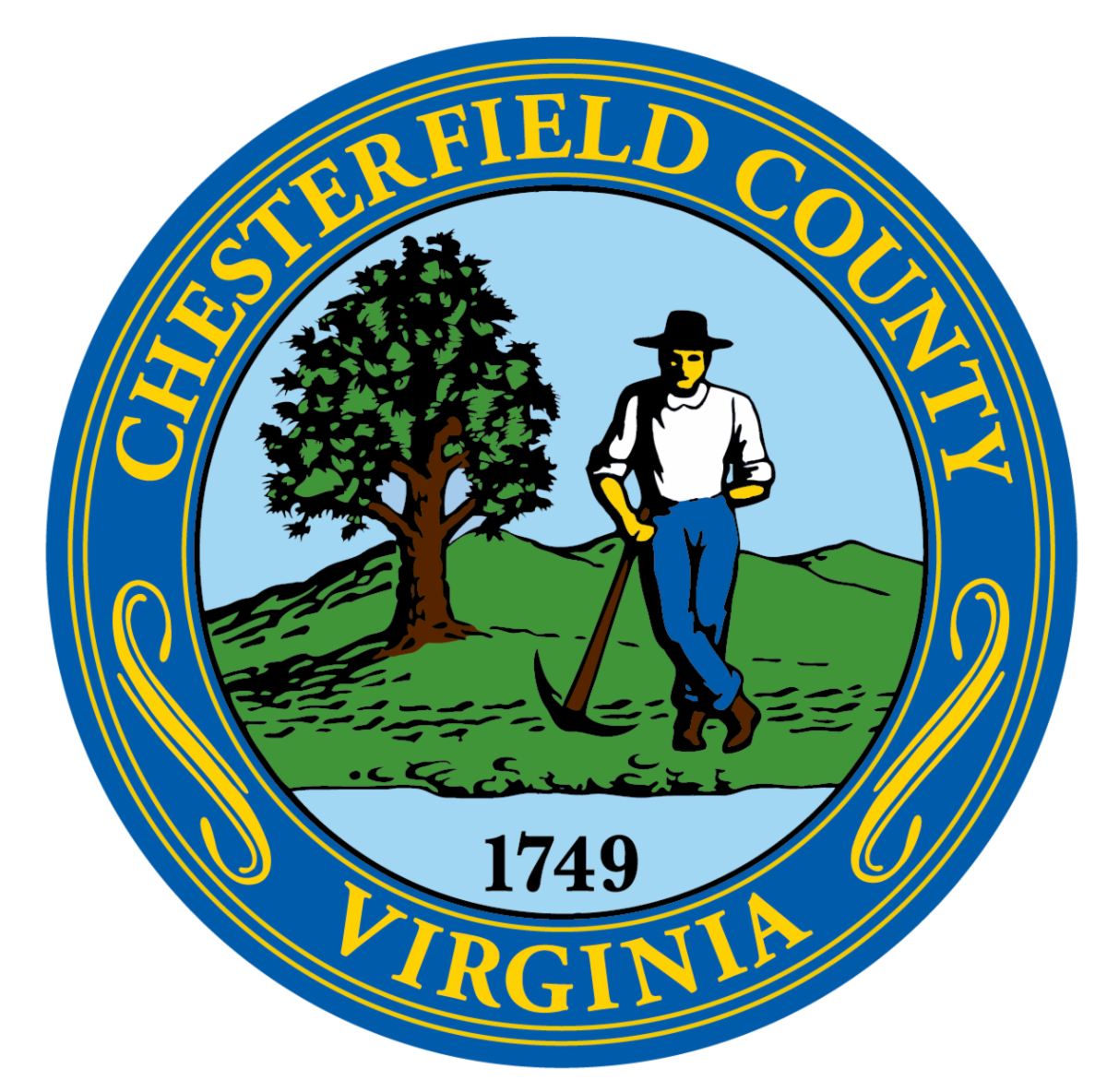 Chesterfield County Seal PNG