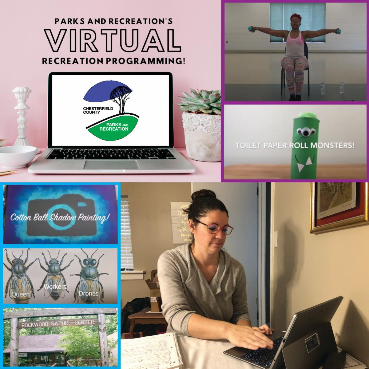 Parks and Rec - Virtual Recreation Programs - Tory Rogers and Kecia Allen