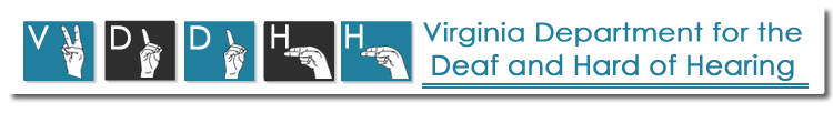 VDDHH - Virginia Department for the Deaf and Hard of Hearing Logo
