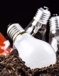 light bulbs shovel dirt