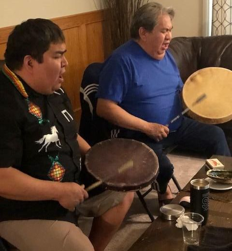 Darcy and Frank drumming