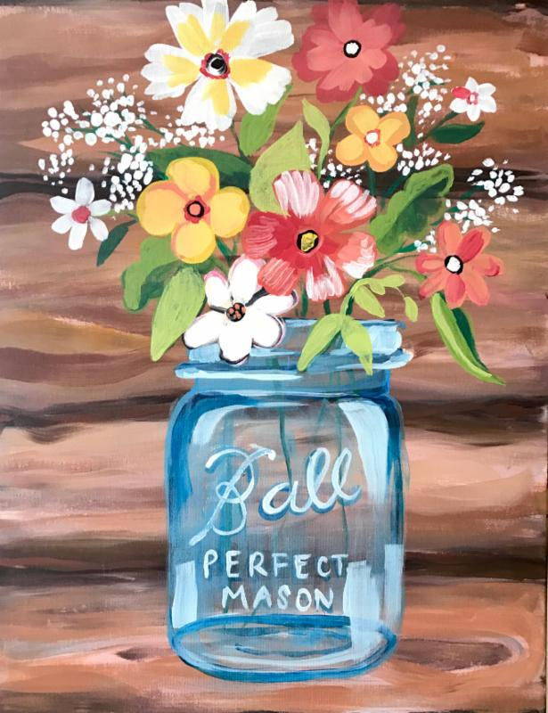 mason jar canvas at amazing glaze byob