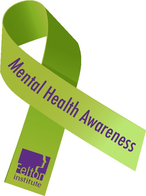 Green Mental Health Awareness Ribbon Graphic