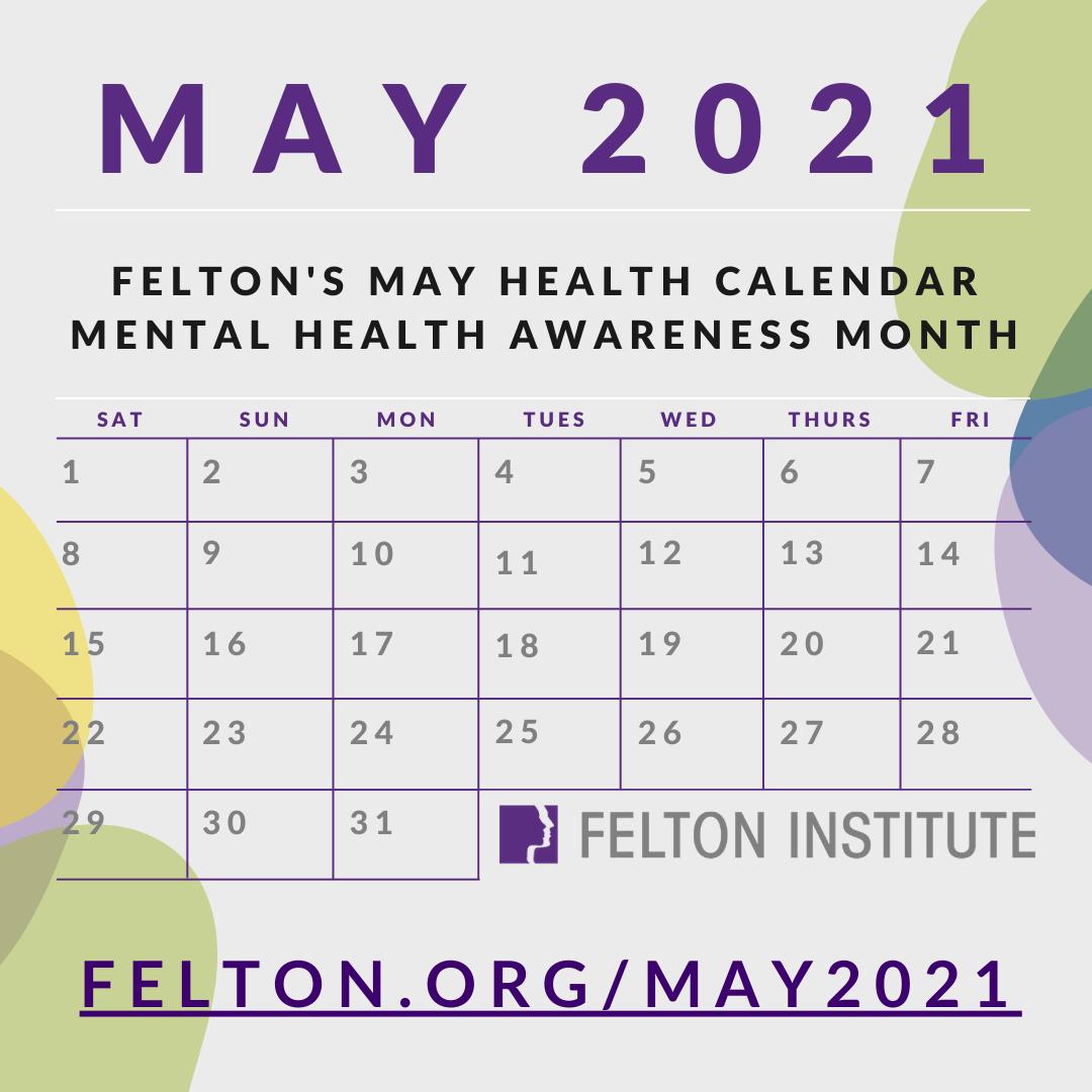 May Mental Health Calendar