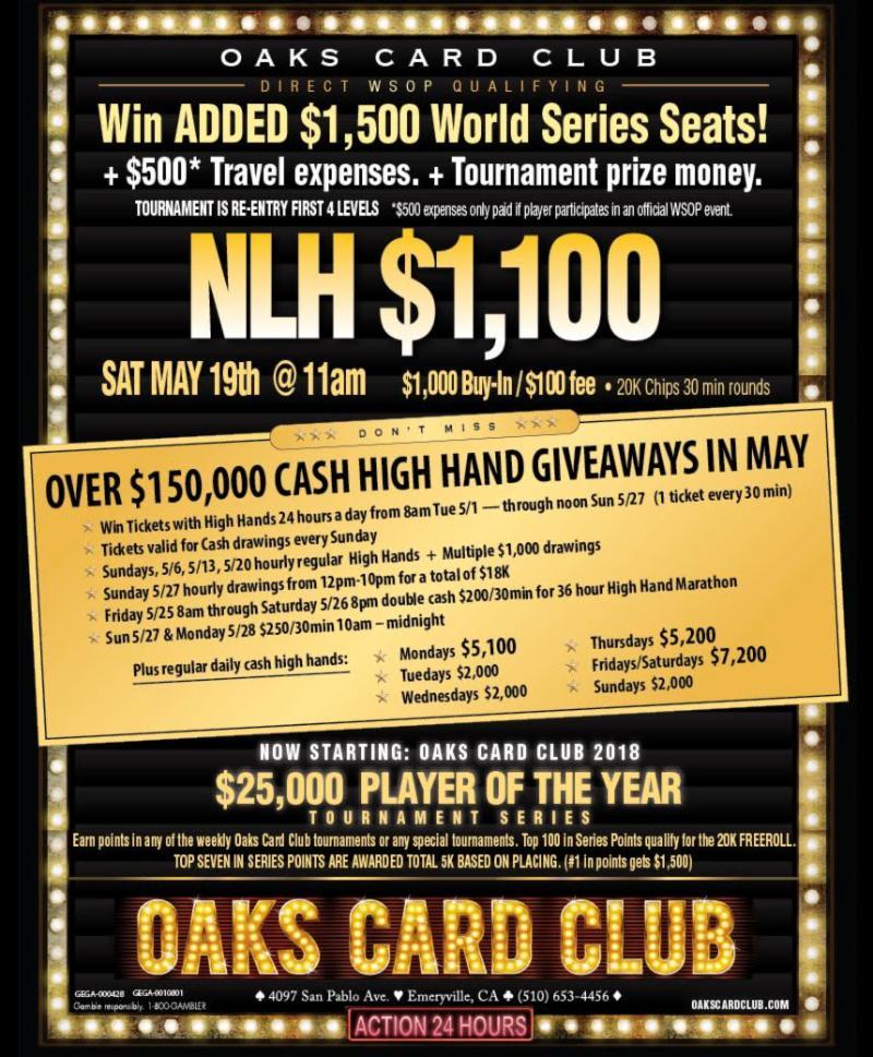 5-14-18 - Oaks Club