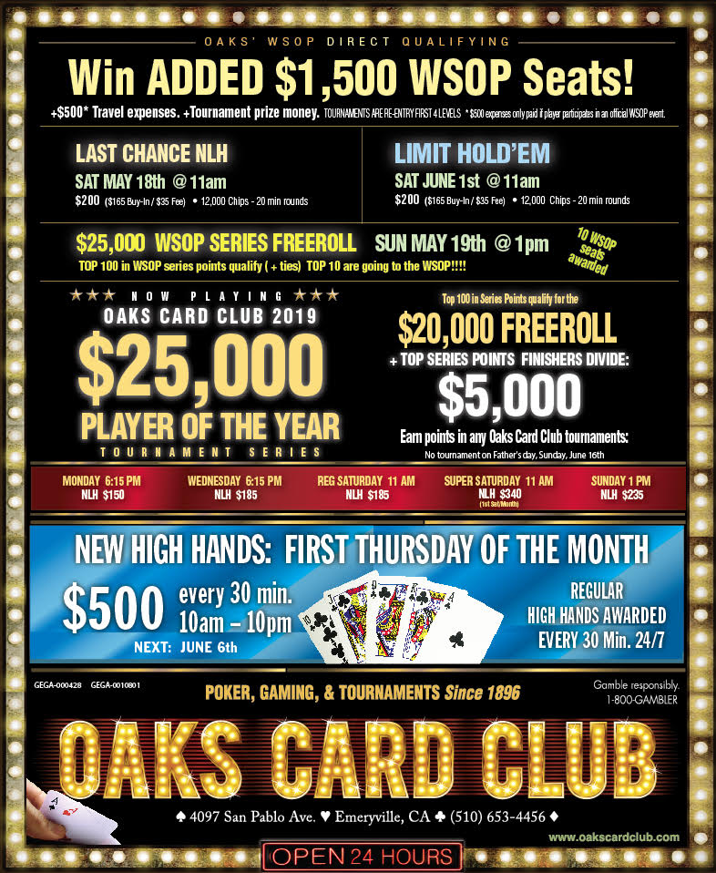 Oaks Card Club - 5-13-19