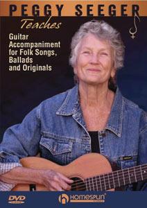 Peggy Seeger Teaches Guitar Accompaniment for Folk Songs, Ballads and Originals