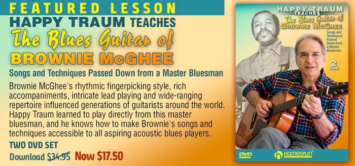 Happy Traum teaching the Blues Guitar of Brownie McGhee