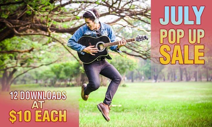 July - Pop Up Sale downloads at $10 each
