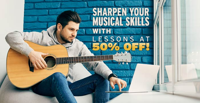 Sharpen Your Musical Skills - lessons at 50 percent off