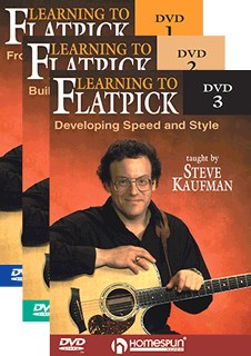 Steve Kaufman - Learn to Flatpick - 3 set