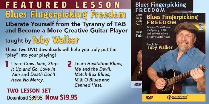 Featuring Toby Walker - Blues Fingerpicking Freedom