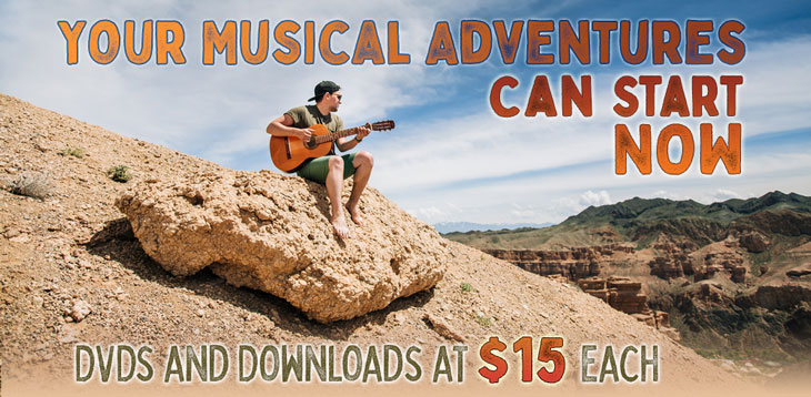 Your Musical Adventures Can Start Now - Choose any lesson below for only $15