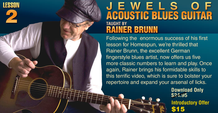 Jewels of Acoustic Blues Guitar by Rainer Brunn - Lesson 2