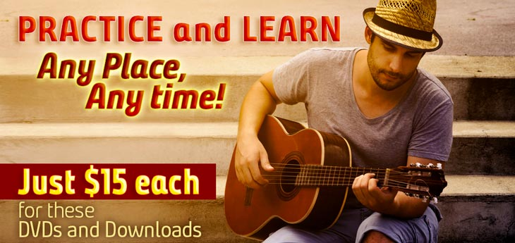 Practice and Learn-15 each for these DVDs and Downloads