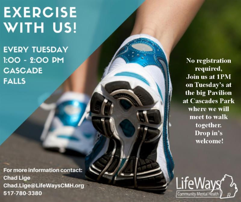 Lifeways Exercise with us flyer