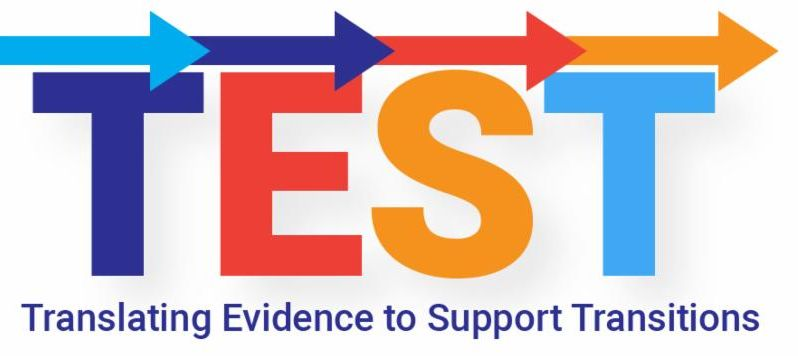 Test Logo Translating Evidence to Support Transitions