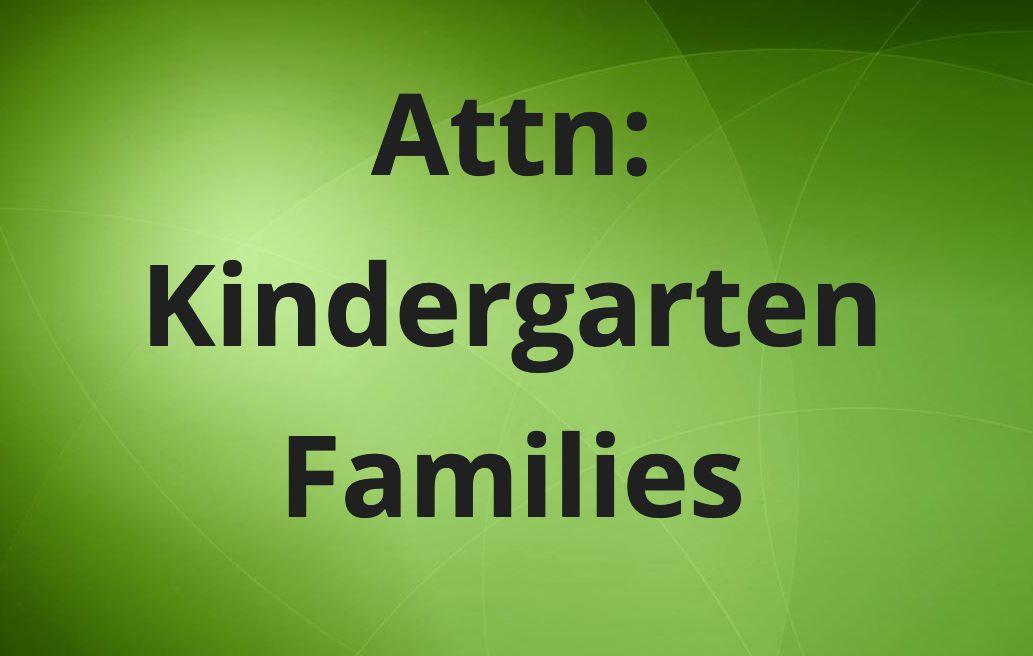 Kindergarten Families