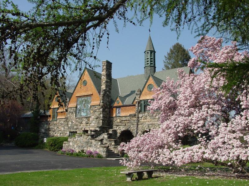 church springtime