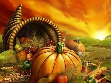 Thanksgiving scene