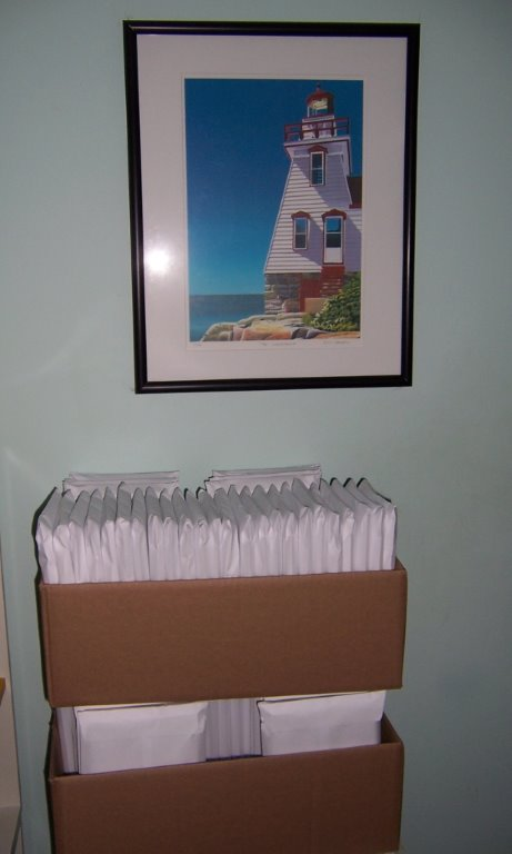 3 Books readied for Post Office
