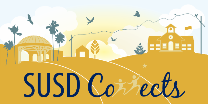 """""""SUSD Connects"""" newsletter logo"""