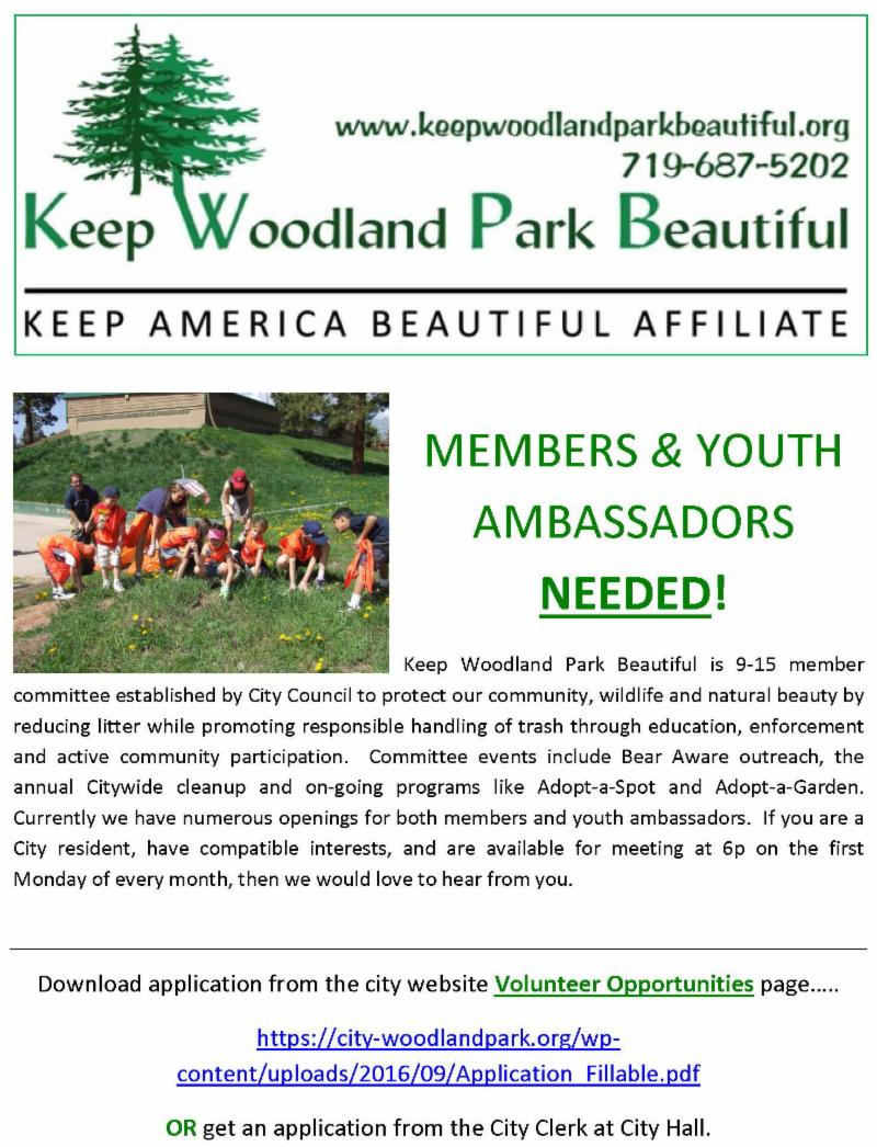 Keep Woodland Park Beautiful