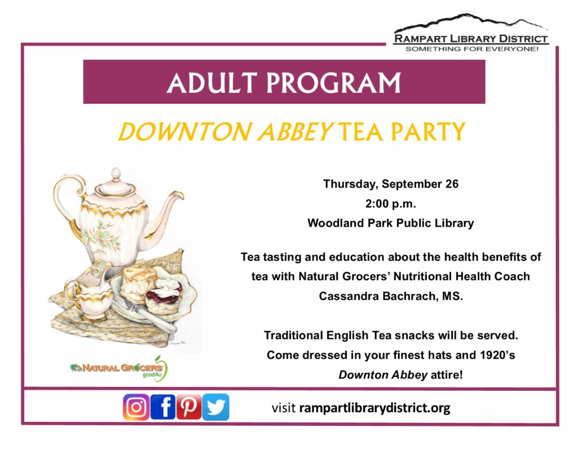 library DowntonAbbeyTea