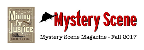 Mystery Scene Magazine Fall 2017 issue review of Mining For Justice by Kathleen Ernst.
